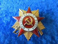 SOVIET USSR RUSSIAN PATRIOTIC WAR BADGE ORDER MEDAL PIN 1 CLASS GOLD