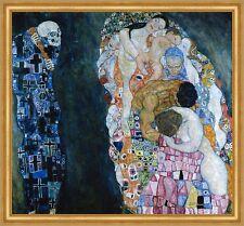 Tod und Leben Secession Jugendstil Kreisornamente LW Gustav Klimt A1 019