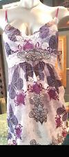 Claire Pettibone BUTTERFLIES Babydoll in Purple FANTASIA Sz XS - Absolute Charm!