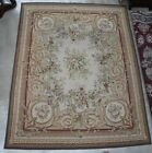 """Antique French Needlepoint Aubusson Hand Knotted Tapestry Rug 122""""x 96""""  C1910"""