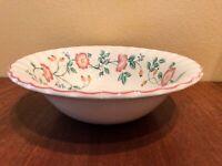 "CHURCHILL Briar Rose Vegetable Bowl 9 1/4"" Pink Floral Staffordshire England EUC"