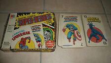 MARVEL COMICS SUPER-HEROES CARD GAME - Milton Bradley - 39 cartes - très rare