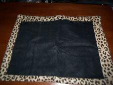 "Animal Print Trim Black Background Polyester Fleece 19"" X 26"" Pillow Sham NEW"