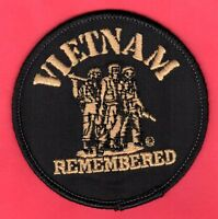 """Vietnam Remembered Patch   3"""" Old Store Stock"""