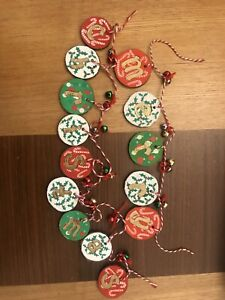 Handmade Hand Painted Hanging Wooden Decoration Merry Christmas Banner