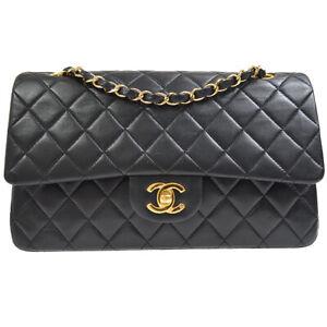 CHANEL Classic Double Flap Medium Chain Shoulder Bag 6420694 vyj Black 40368