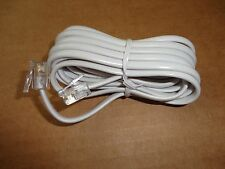 10pc. 7ft Rj11 Modular Phone/Telephone Wire Line Flat Cord/Cable, 6P4C, White