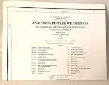 USDA Anaconda Pintler Wilderness Beaverhead Bitterroot Deerlodge Montana Map '83