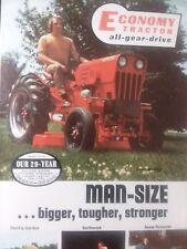Economy Jim Dandy Power King Lawn Garden Tractor Color Sales Brochure Manual
