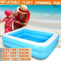 Large Family Inflatable Swimming Pool Outdoor Garden Summer Kids Paddling Pools