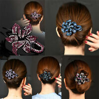 Rhinestone Headwear Hair Claw Women Crystal Hairpin Hair Clip Barrette Fashion