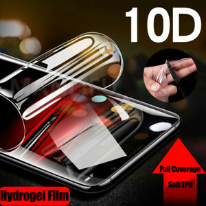 10D Soft Hydrogel Full Coverage Clear Screen Protector Gel Film For Cell Phone