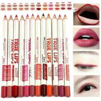 New 12 True Colours Professional Waterproof Lips Liner Makeup Lip Kit Pen Pencil