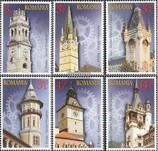 Rumania 6874-6879 (compl.edición) nuevo con goma original 2014 Uhrtürme