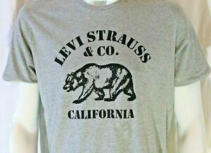 MENS LEVIS T-Shirt  Guaranteed Authentic Grey and Black California