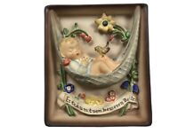 Vintage Goebel Hummel Plaque Swinging Lullaby Plaque No Box Wall Hanging