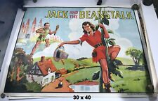 Jack and the Beanstalk British Theater Poster, 1930s, Original