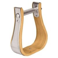 "Weaver Leather Wooden Western Stirrups Bell with 2"" Tread and 3"" Neck"