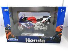 Blue Honda CBR 900RR Fireblade 1:18 Dirt Bike Motorbike Motorcycles Kids Toy