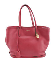 Alexander McQueen Skull Red Leather Tote