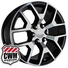 OE Performance 169BM 20 inch GMC Sierra Wheels Black Machined Rims fit Chevy