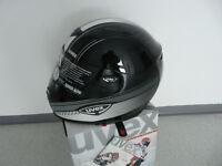 Motorradhelm  Uvex Uvision schwarz weiss grau shiny  Neu XL  sehr leicht