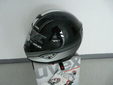 Motorradhelm  Uvex Uvision schwarz weiss grau shiny  Neu L  sehr leicht