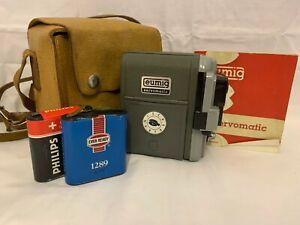 Vintage Austrian Eumig Servomatic Double-8mm Cine Movie Camera c1958