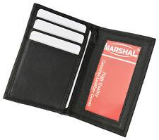Black Mens LEATHER Bifold Wallet ID Window Credit Card Holder Zip  Front Pocket