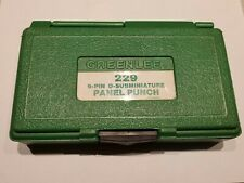 New listing Greenlee 229 9 Pin Sub-D Panel Punch