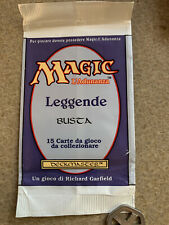 EMPTY Italian LEGENDS Booster Pack Wrapper MtG Vintage 1994 Magic Collectible