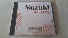 Suzuki PIANO School, Volumes 3 & 4 - Compact Disc CD. NEW & SEALED. Free Postage