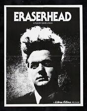 ERASERHEAD ✯ CineMasterpieces DAVID LYNCH VINTAGE ORIGINAL MOVIE POSTER 1977