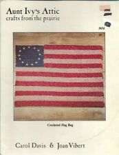 Crocheted American Flag Aunt Ivy's Attic Crafts from the Prairie #654 1986