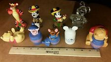 Disney Salt and Pepper Shakers Lot of 9 Winnie the Pooh Piglet Mickey Tigger