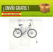 Sistema Ganchos Poleas Para Colgar Bicicleta al Techo Anclaje Pared Hasta 20kg
