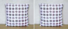 "Indian 100% Cotton Handmade 16X16"" Square Sofa Cushion Cover Block Print Set-2"