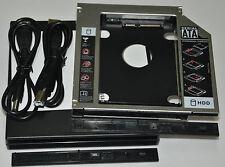 USB 2.0 DVD RW External Enclosure Case + SATA 2nd HDD Hard drive Caddy Adapter