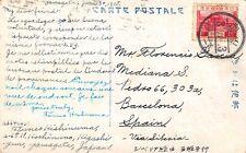 JAPAN,  Postcard used from  Japan to Spain  in June 1928,  Nice Postmark