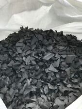 Black Safety Surfacing Rubber Garden Play Area Bark Chippings Soft Mulch 25kg