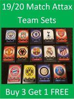 2019/20 Match Attax UEFA Soccer Cards - Team Sets - Buy 3 Get 1 FREE
