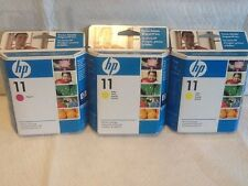 3 Pack Genuine HP 11 (1-Magenta 2-Yellow) Ink Cartridges Exp 2009/2010 Sealed