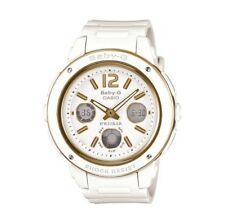 AUTHENTIC Women's White and Gold,Baby G Casio