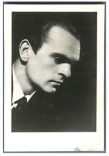 Witold Małcużyński, pianiste polonais  Vintage silver print,Witold Małcużyński