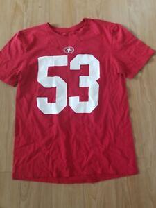Nike NFL SAN FRANCISCO BOWMAN 53 JERSEY WOMENS SZ M RED