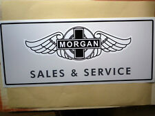 MORGAN SALES & SERVICE large Workshop Garage Sign Sticker +8 4/4 +4 Aero SS
