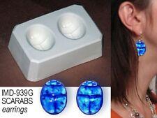 IMD-939G SCARABS earrings/cufflinks GLASS FUSING mold