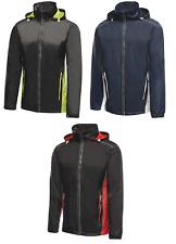 Regatta Mens Moscow Waterproof Lightweight Hooded Shell Jacket Full Zip Cycling