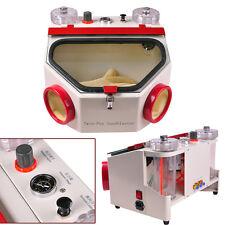 110V/220V Dental lab Equipment Double Pen Fine Sandblaster machine-UK