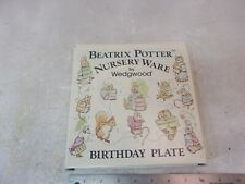 Wedgewood Vtg 1981 Beatrix Potter Peter Rabbit NurseryWare Birthday Plate